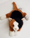 Chat peluche marron noir et blanc Anna Club Plush