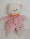 Peluche ours blanc et rose Tex Baby