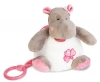 Peluche musicale hippopotame rose et blanc Zoé - BN084 Baby Nat