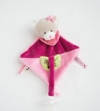 Doudou attache-tétine ours rose - BN0288 Baby Nat