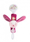 Doudou attache-tétine luminescent lapin rose Les Comètes - BN0310 Baby Nat