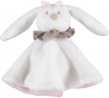 Doudou lapin rond blanc et rose Orchestra