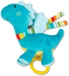 Peluche dragon musical bleu turquoise Baby Club
