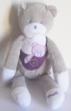Peluche ours peluche gris et violet Musti Mustela Musti - Marques pharmacie