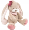 Mini peluche lapin Nina marron et rose Nattou