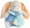 Lapin bleu Pom peluche musicale BN0254 Baby Nat