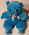Peluche ours bleu ruban rose CP International