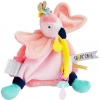 Doudou flamand rose attache sucette DC3280 Doudou et compagnie