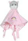 Doudou chat rose arc-en-ciel Gipsy