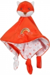 Doudou renard rouge orange arc-en-ciel Gipsy
