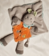 Doudou cheval gris et orange Nicotoy