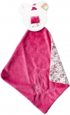 Doudou mouchoir ourson ballon fuschia BN0238 Baby Nat