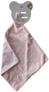 Doudou mouchoir ourson ballon rose layette BN0238 Baby Nat