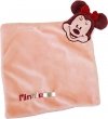 Doudou Minnie carré rose et violet Disney Baby