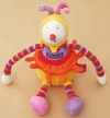 Peluche clown jaune Dragobert Fassole Moulin Roty