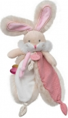 Doudou lapin Papuche rose BN0385 Baby Nat
