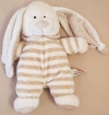 Peluche lapin marron rayé The Baby Collection Nicotoy