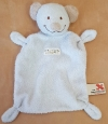 Doudou ours blanc crème et marron the Baby Collection Nicotoy