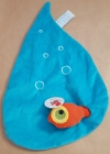 Grand doudou bleu poisson orange Egmont Toys - Marques diverses